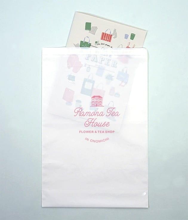 ホワイトの宅配袋02の拡大画像