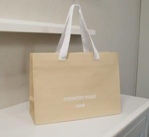 エコでシンプルなショップ袋