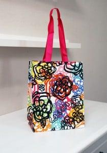 とてもアートなショップ袋