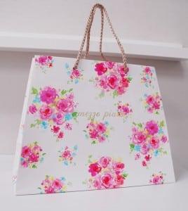 台形のかわいいショップ袋