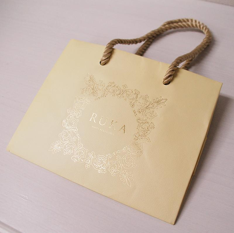キュートなアクセサリー屋さんの紙袋|オリジナル紙袋ならベリー