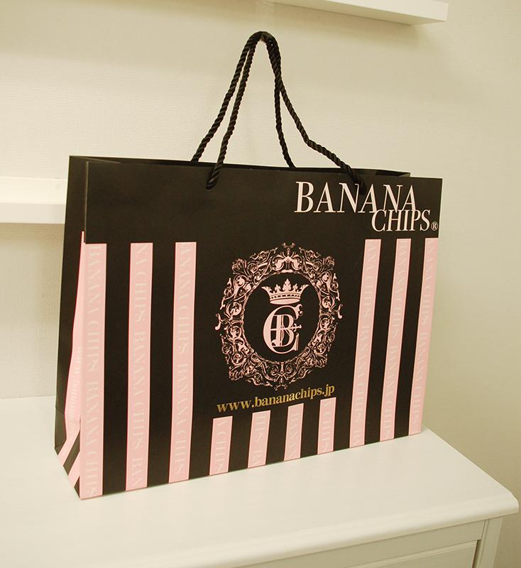 ストロベリーチョコレートのような紙袋