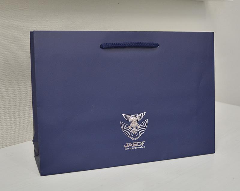 航空自衛隊様の紙袋を作成しました!!