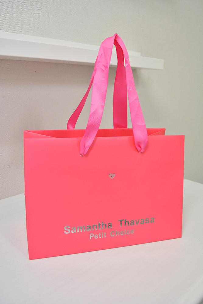 ピンク、ピンク、そして、 ・・・ピンク。訴求対象のはっきりした紙袋