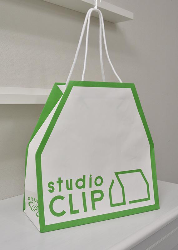 とてもユニークな折り方の紙袋