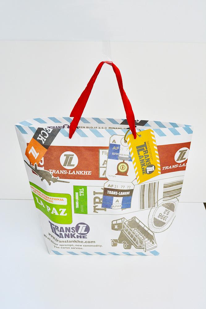 お洒落なトートバッグのような紙袋
