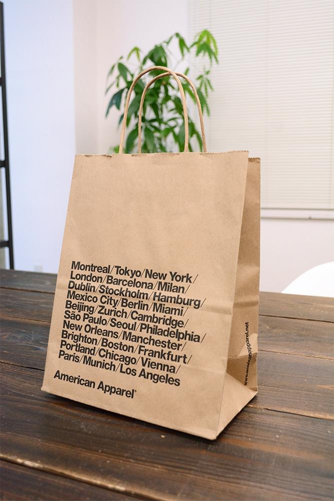 アメリカっぽい!!クラフト紙の紙袋