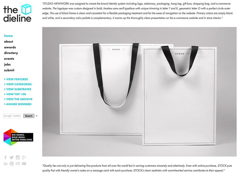 海外のパッケージデザイン紹介サイトでベリービーの紙袋が紹介されました!!