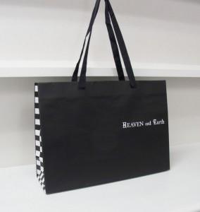 """大人っぽい""""黒""""が素敵なオリジナル紙袋の印刷"""