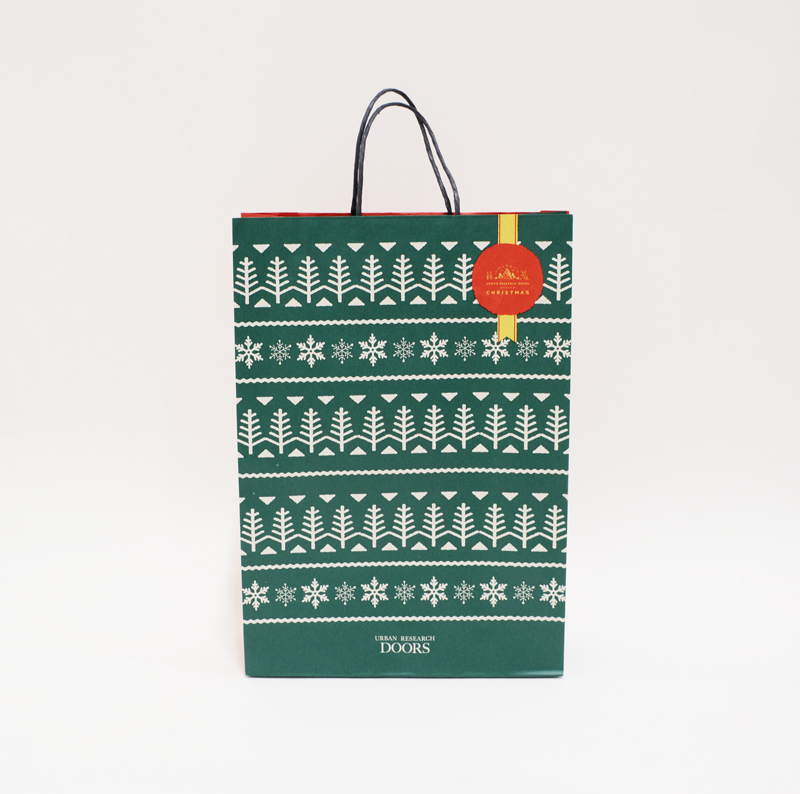 ザ・王道!クリスマスらしい紙袋