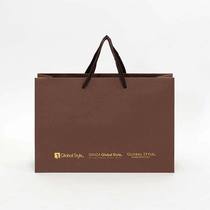 オーダースーツブランドのシックな紙袋