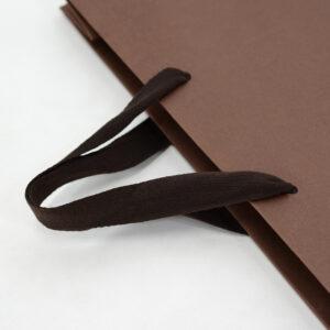 紙袋, 平紐, ブラウン