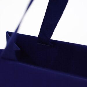 紙袋, 縦留め, ハンドル, ブルー