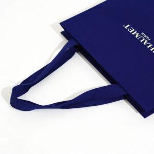 紙袋, ハンドル, ブルー
