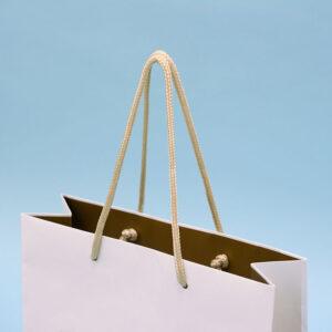 紙袋, ハンドル, ゴールド