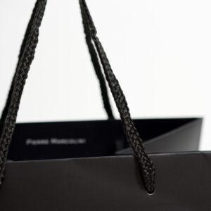 紙袋, ハンドル, パイレンロープ, ブラック