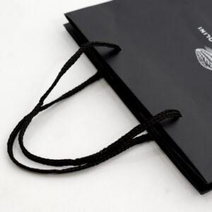 紙袋, ハンドル, パイレンロープ, 黒