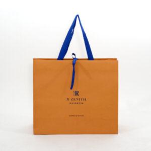 紙袋, オレンジ,