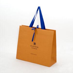 紙袋, オレンジ