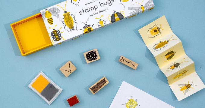 組み合わせ無限大!な昆虫のスタンプセット「stamp bugs」を読む