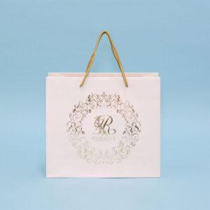 紙袋, 白, 箔押し