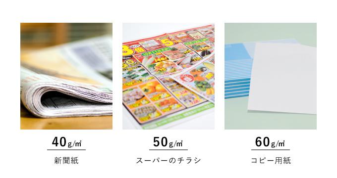 薄い紙の厚み