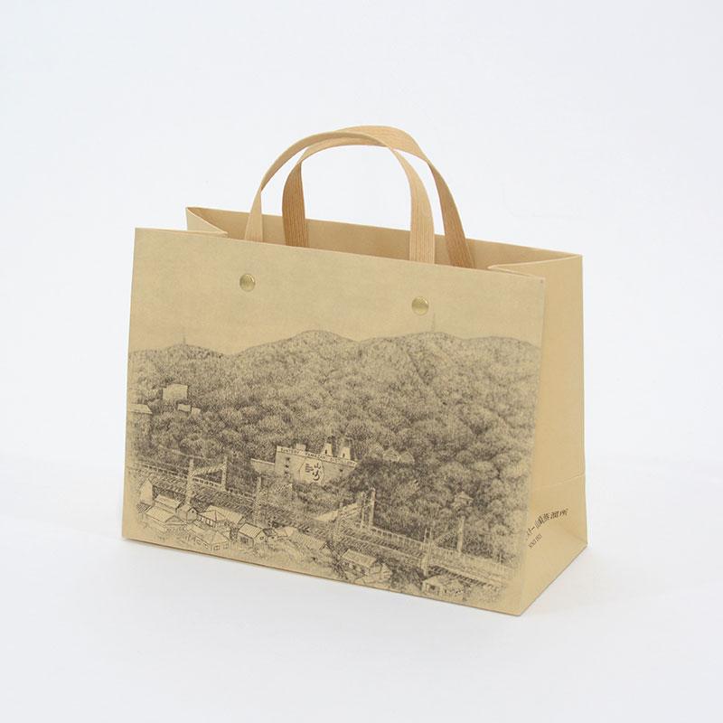 竹製の紙を使ったプロモーション紙袋