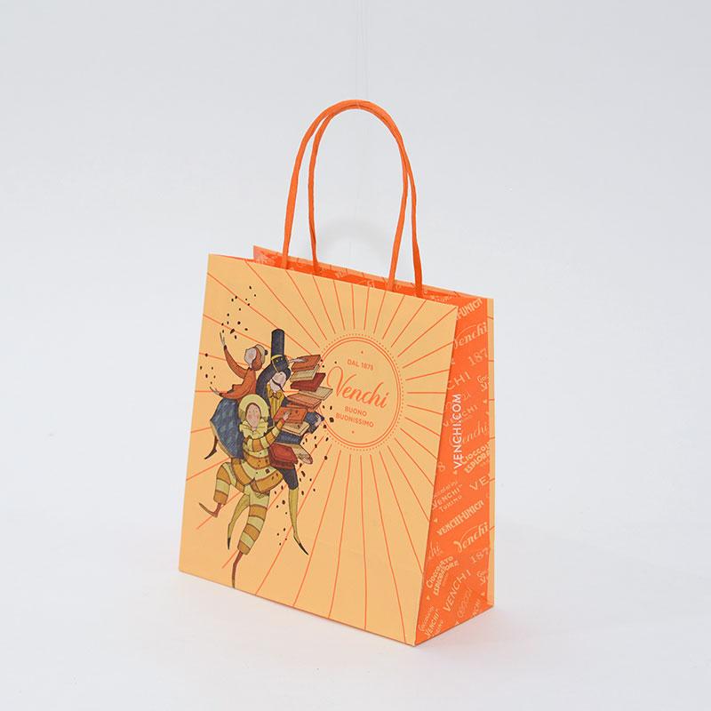 明るい色合いで陽気なあまーい紙袋