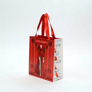 サイドの切り替えデザインがきれいな紙袋