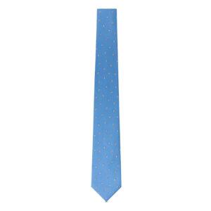 水色の柄ネクタイ