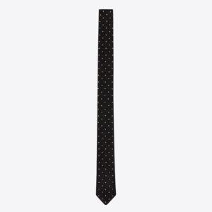 黒のドット柄ネクタイ
