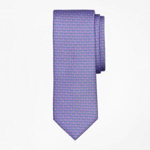 パープルの柄ネクタイ