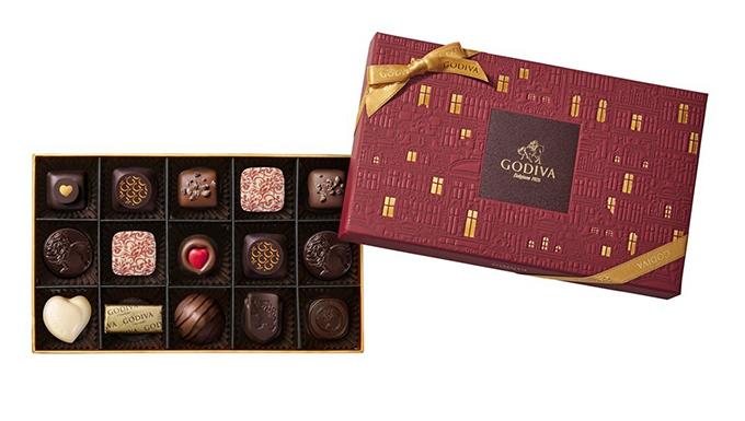 チョコレートの箱と中身