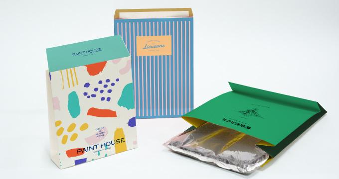 たとえばこんな袋で届いたら?オリジナル宅配袋のアイデアのイメージ