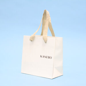 デザインと良いバランスのロゴ配置をした紙袋