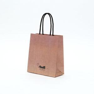 木目とグラデーションでデザインした紙袋