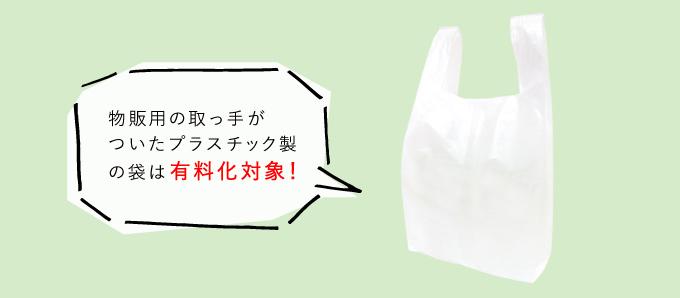 有料化の対象となるレジ袋