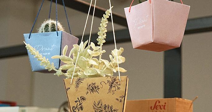 オリジナル紙袋づくりでチャレンジ!植物をいれる「Plant Bag」作りました。のイメージ