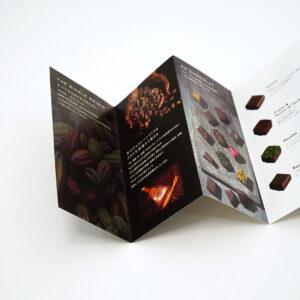 チョコレートの説明書き