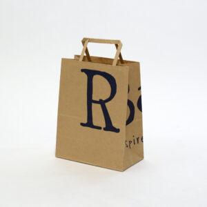ネイビーとクラフト紙でカジュアルな紙袋