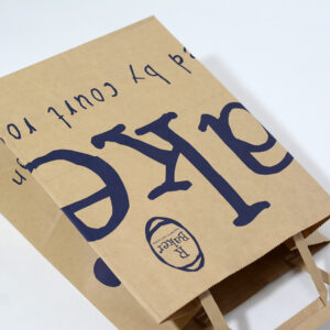マチB面までつながったデザインの紙袋