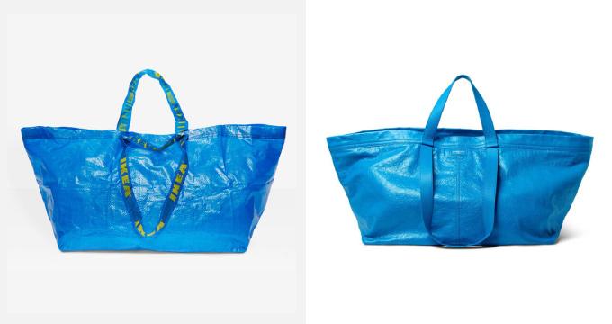 よく似ている青いパッケージ風バッグ