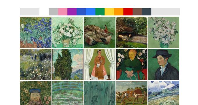 カラーでアート作品を検索してみた