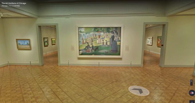 海外の美術館の一角