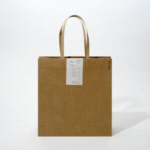張りのあるクラフト紙を使った上品な紙袋