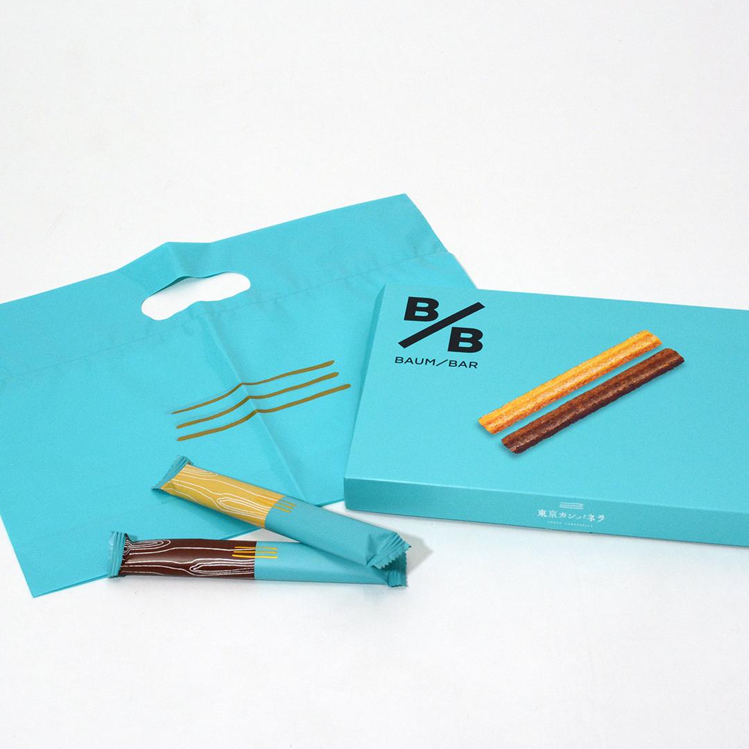 鮮やかなカラーが目を引く、東京土産の定番ブランドのパッケージ