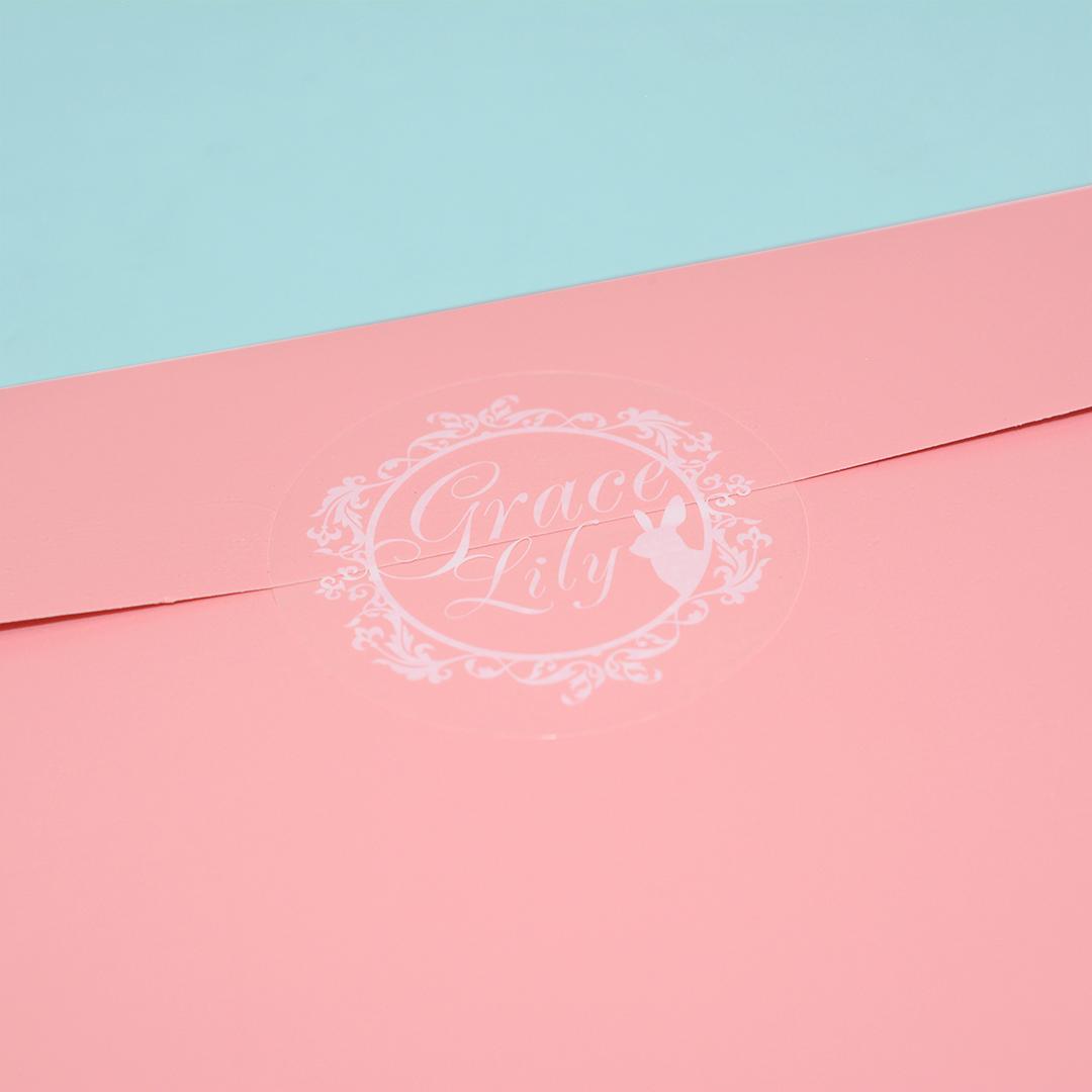 キラキラ光るホログラム箔押しが可愛いうさぎ雑貨店の宅配用ギフト袋2
