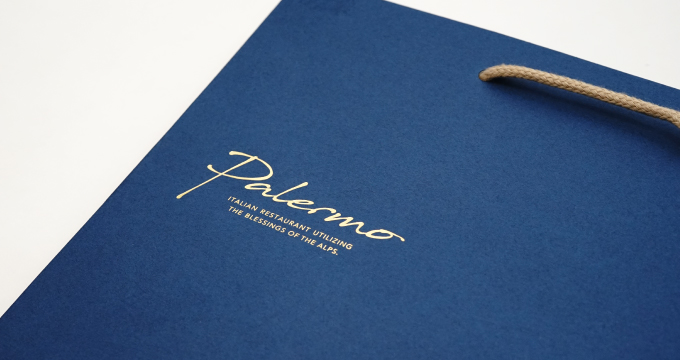 紙袋の表面デザイン