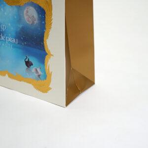 落ち着いたゴールド印刷のサイドマチ