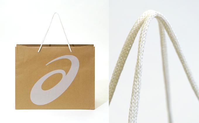 アシックスの環境配慮型紙袋